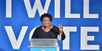 Stacey Abrams backs federal protection as Georgia election bills…